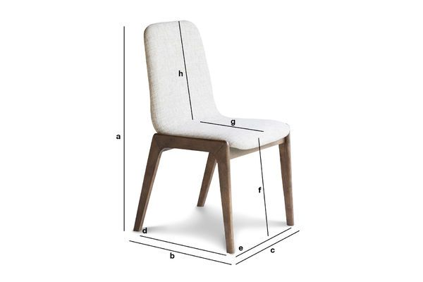 Product Dimensions Stella Fabric Chair