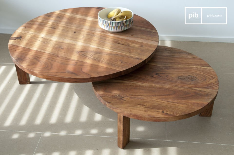 Pair of modular coffee table.