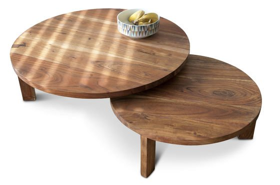 Stockholm coffee table double tabletop Clipped