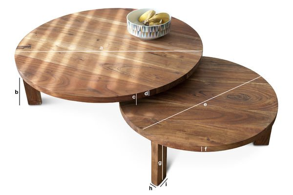 Product Dimensions Stockholm coffee table double tabletop