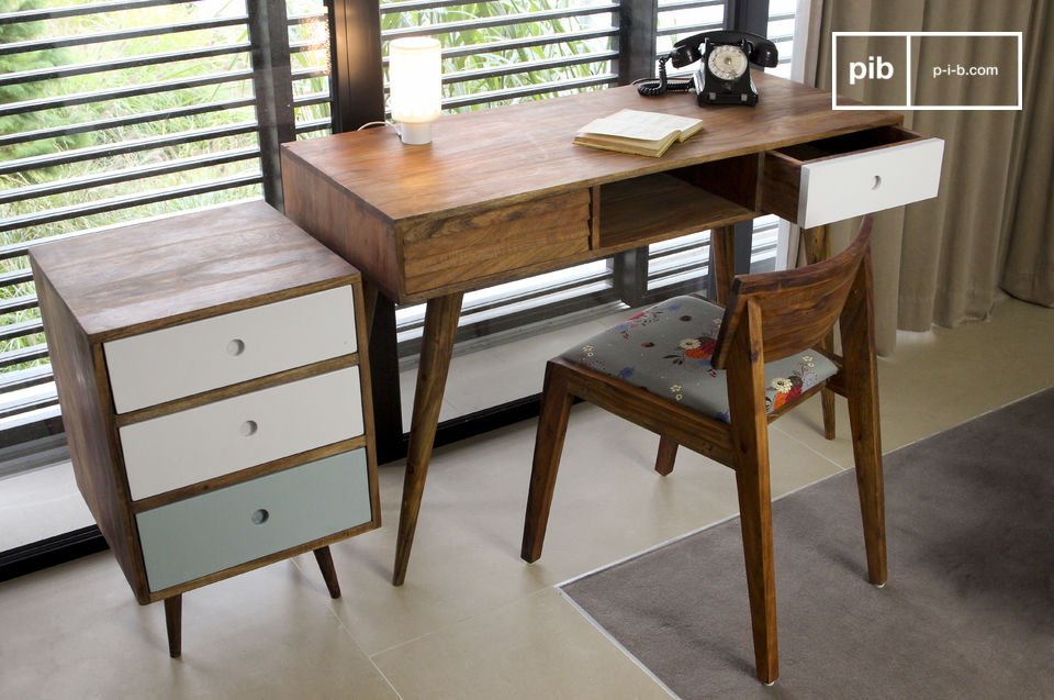 An elegant desk that draws its inspiration from vintage Scandinavian furniture
