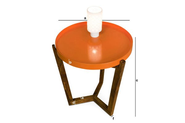 Product Dimensions Stockholm table with a removable top