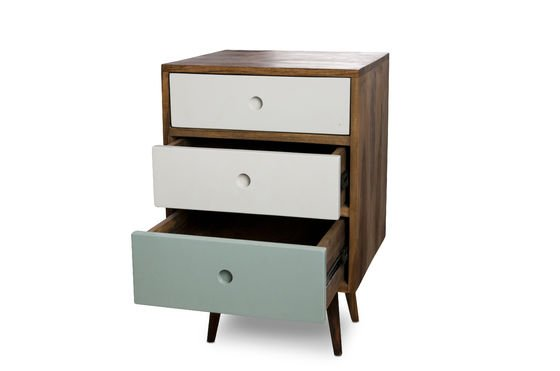 Stockholm three-drawer block chest Clipped