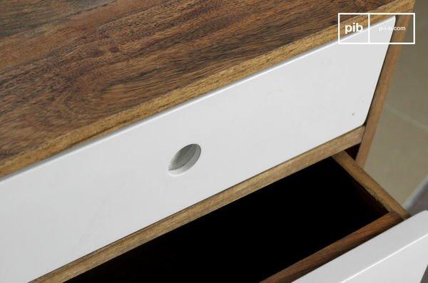 Stockholm three-drawer block chest