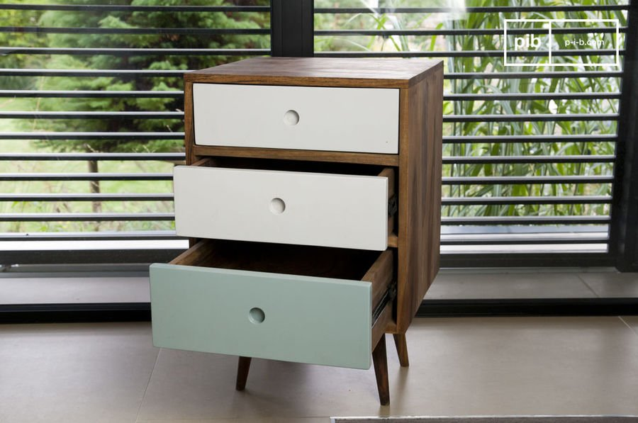 Stockholm three drawer block chest