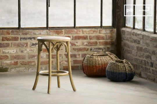 Stool Pampelune with natural finish