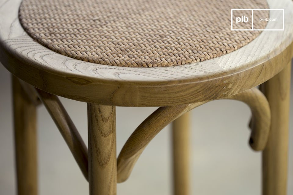 This shabby chic wooden stool is extremely sturdy and perfect for daily usage
