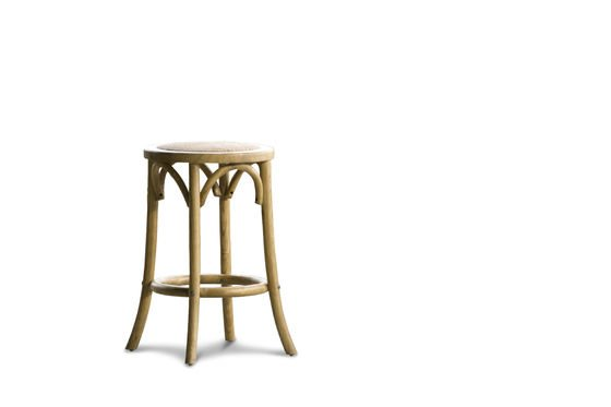 Stool Pampelune with natural finish Clipped