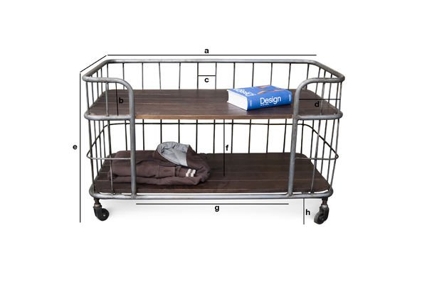 Product Dimensions Storage trolley Remember