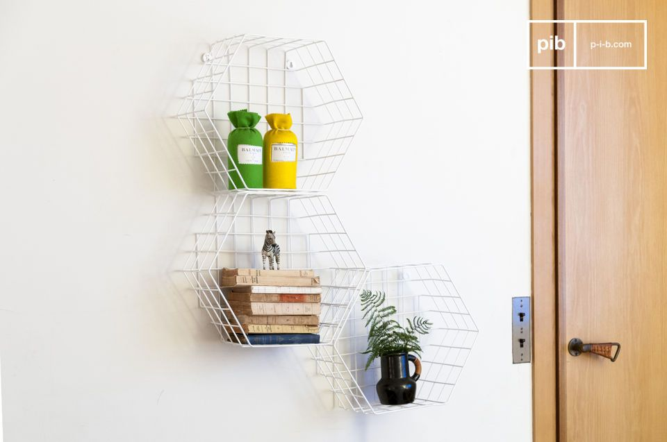 A metal wall shelf that can find its place in any room of a house