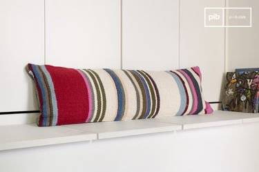 Striped stitch cushion