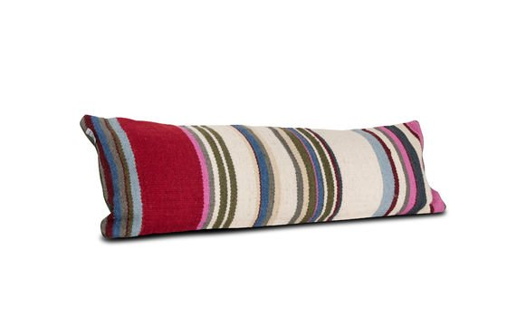 Striped stitch cushion Clipped
