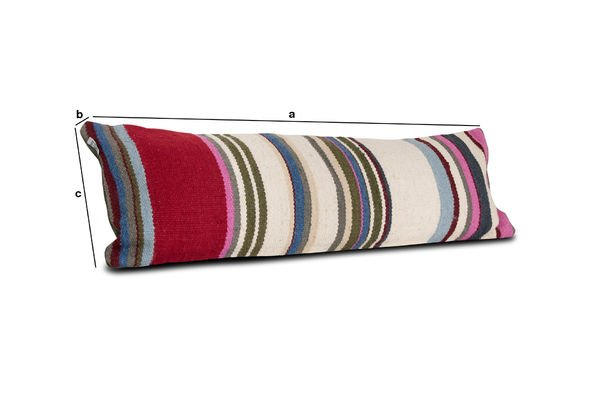 Product Dimensions Striped stitch cushion