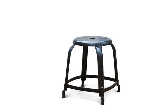 Studio Stool matt black with rivets Clipped