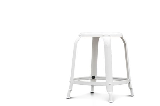 Studio stool with white rivets Clipped