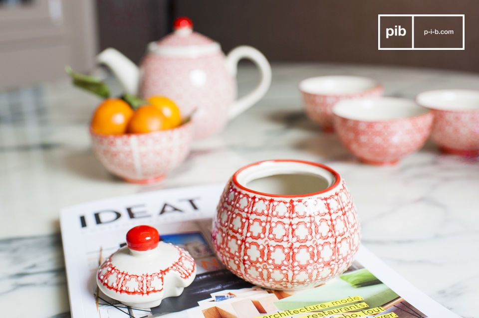 A sugar bowl for a Scandinavian decoration