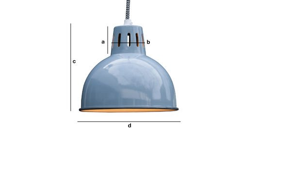Product Dimensions Suspension bleue Snöl
