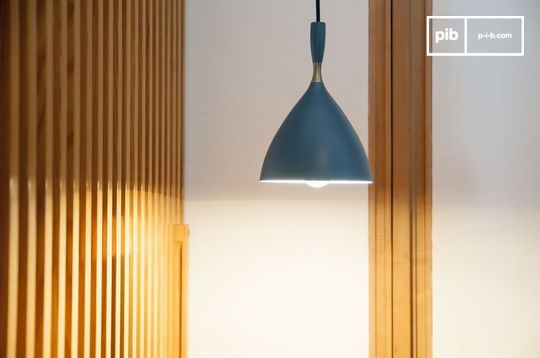 Suspension lamp Dokka petrol blue