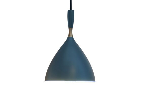 Suspension lamp Dokka petrol blue Clipped
