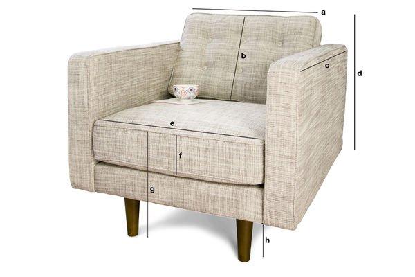 Product Dimensions Svendsen beige armchair