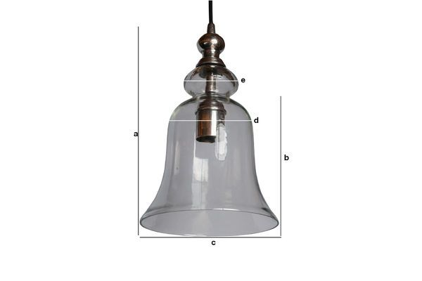 Product Dimensions Sweet Bell Glass Pendant light