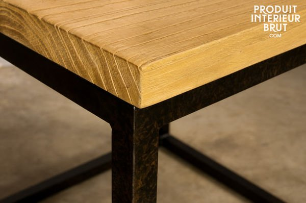 Table basse industrielle robuste