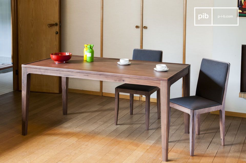 Beautiful solid walnut dining table.