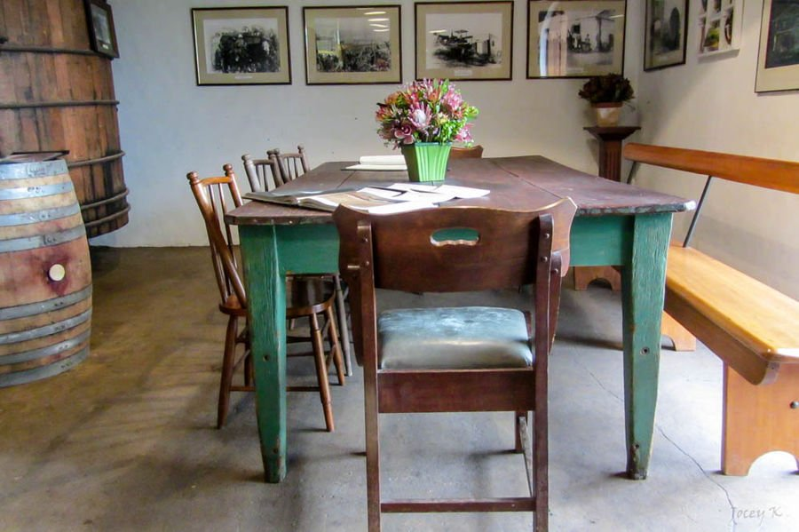 old and antique dining table
