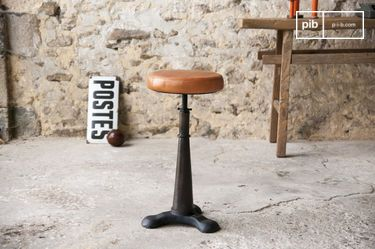 Tailor's stool (leather seat)