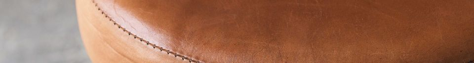 Material Details Tailor's stool (leather seat)