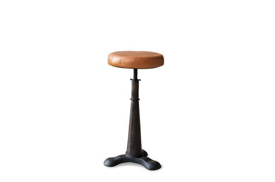 Tailor's stool (leather seat) Clipped