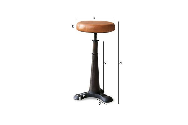Product Dimensions Tailor's stool (leather seat)