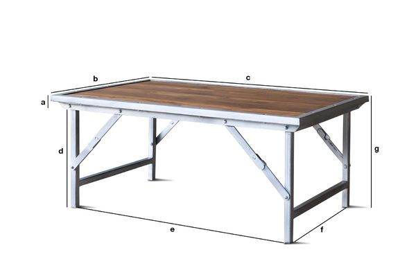 Product Dimensions Teak coffee table Bollène
