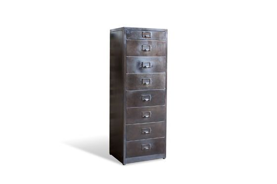Telex 8-Drawer Metal File Cabinet Clipped