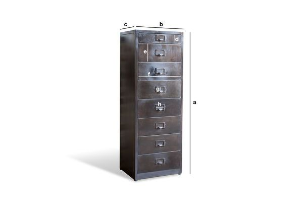 Product Dimensions Telex 8-Drawer Metal File Cabinet