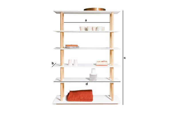 Product Dimensions Tennö bookshelf