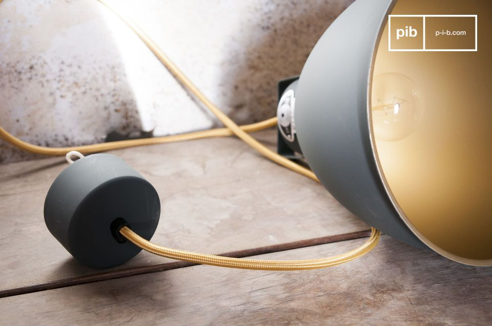 A light with authentic industrial vintage design