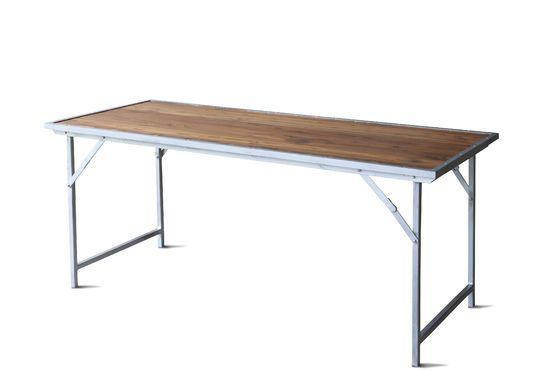 The Bollène teak table Clipped