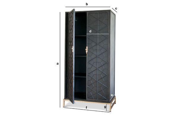 Product Dimensions The Lennon metallic wardrobe