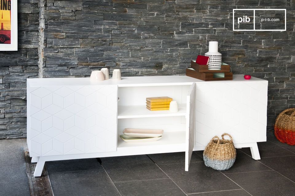 Practical storage with a bright Scandinavian design