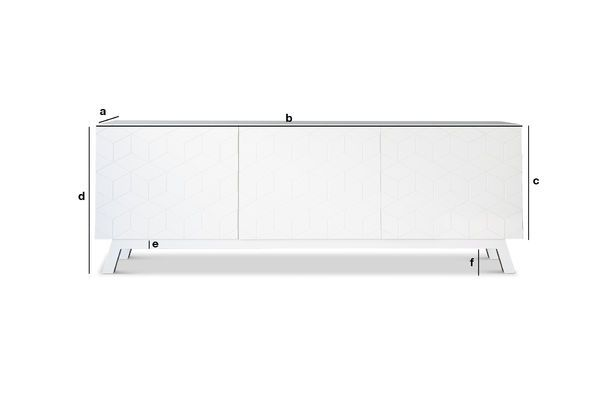 Product Dimensions The Liam sideboard