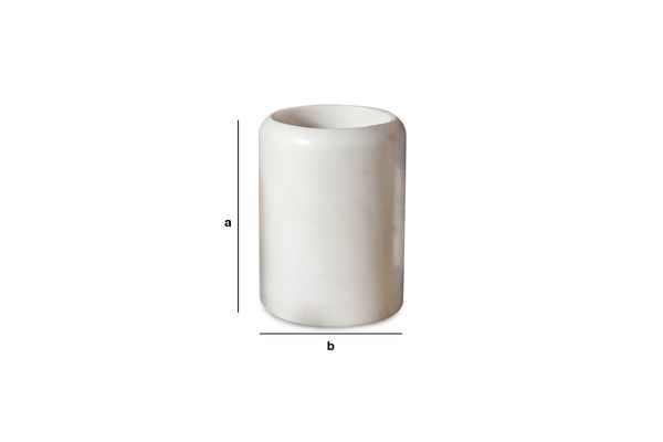 Product Dimensions The White Marble container Wäg
