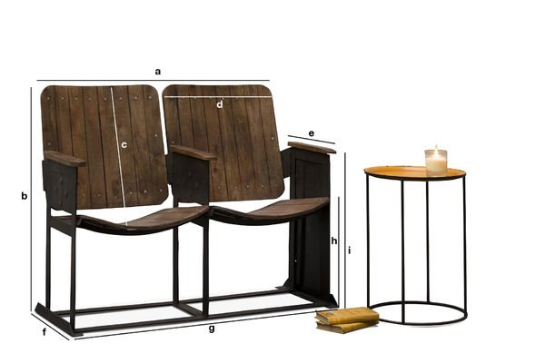 Product Dimensions Theatre double seat