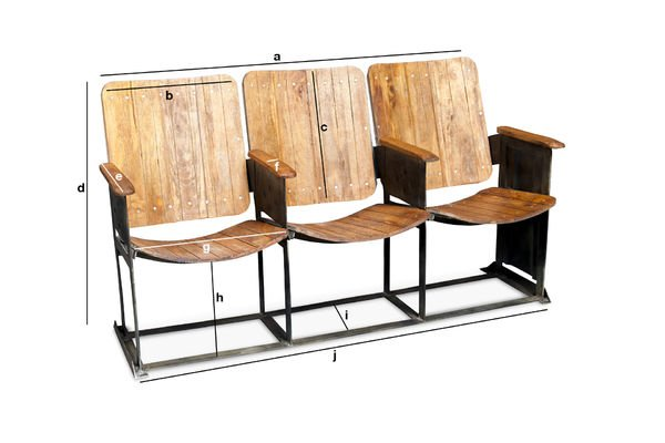Product Dimensions Theatre triple seat