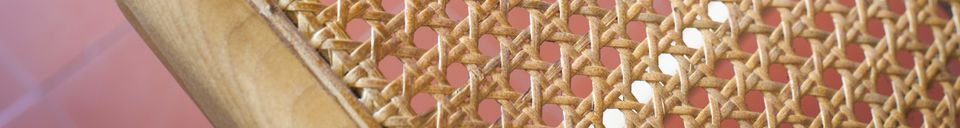 Material Details Thisted cane armchair