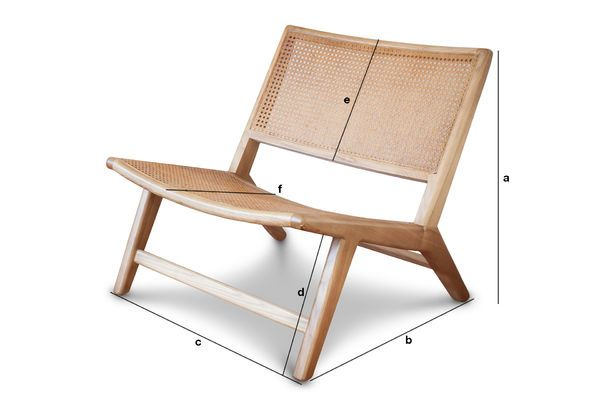 Product Dimensions Thisted cane armchair
