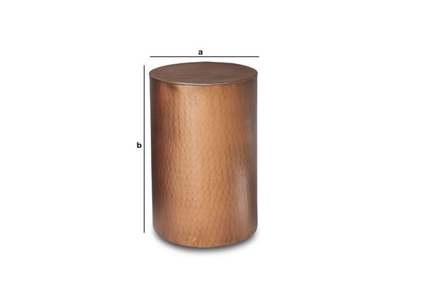 Product Dimensions Thomson copper side table