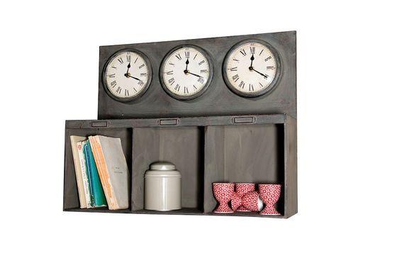 Three-clock box shelves Clipped