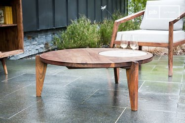 Three-legged coffee table Stockholm