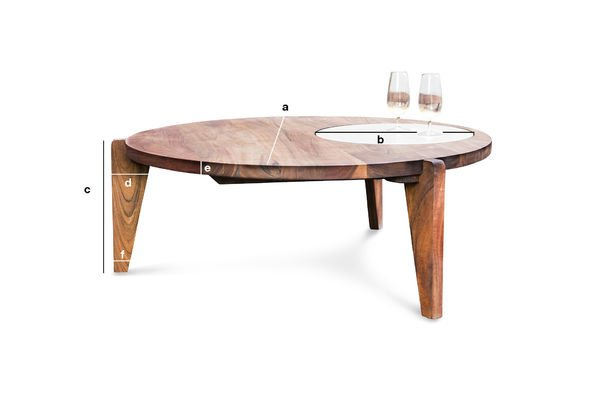Product Dimensions Three-legged coffee table Stockholm